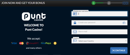 Punt casino mobile login
