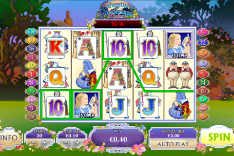 adventures in wonderland playtech slot