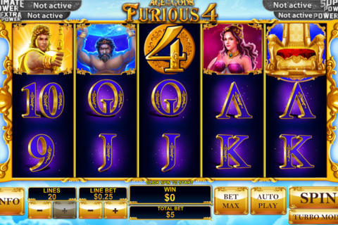 age of the gods furious  playtech slot