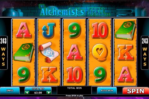 alchemists spell playtech slot