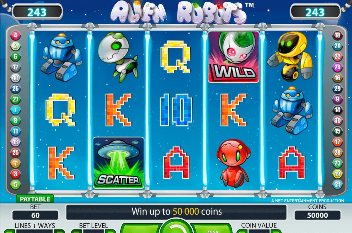 alien robots netent slot