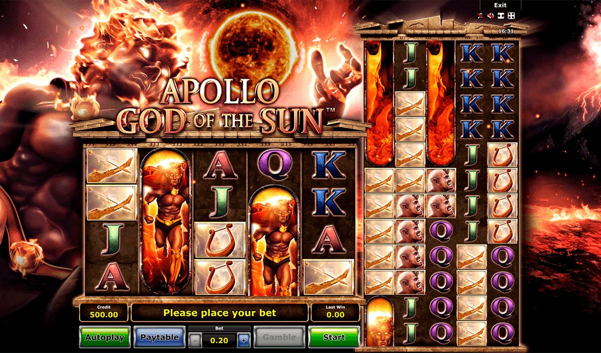 apollo god of the sun novomatic slot