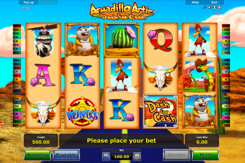 armadillo artie novomatic slot
