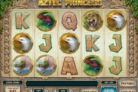 aztec princess playn go slot
