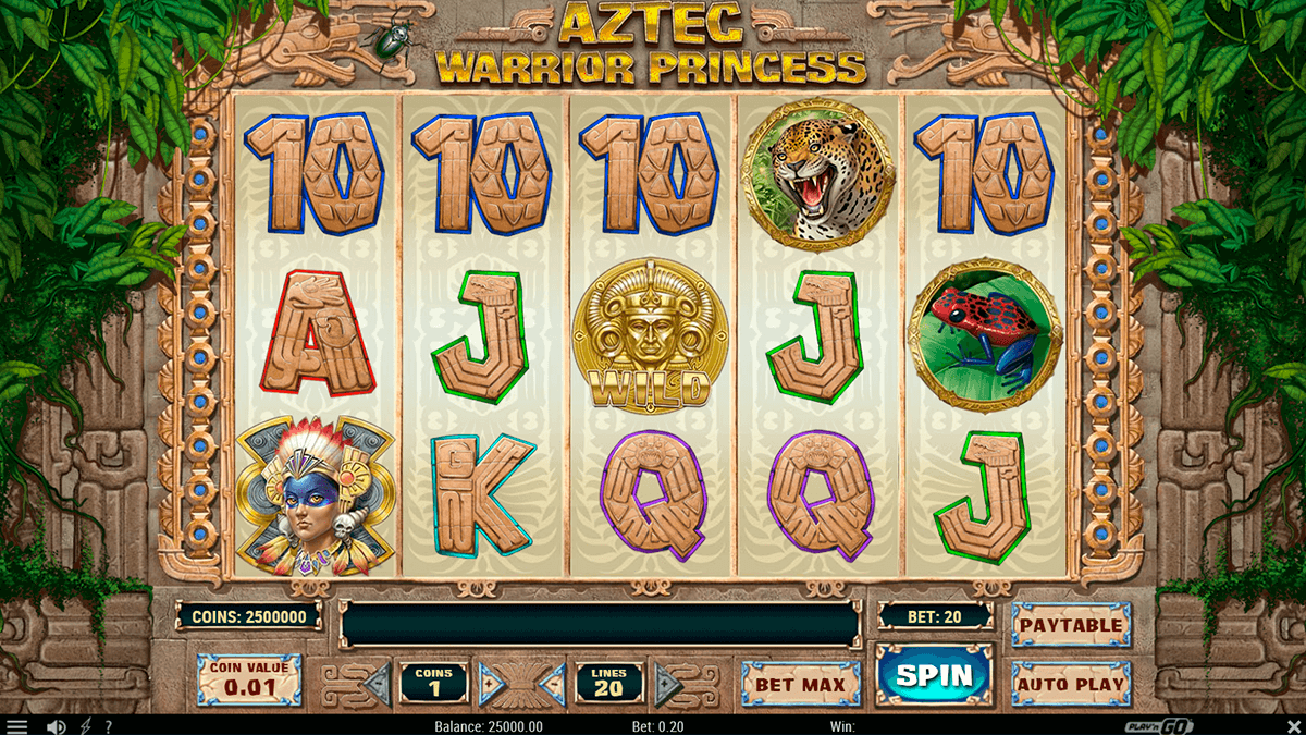 aztec warrior princess playn go slot