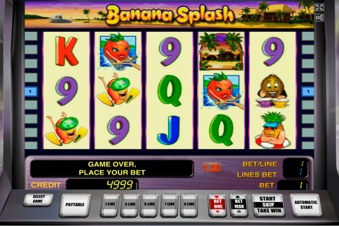 banana splash novomatic slot
