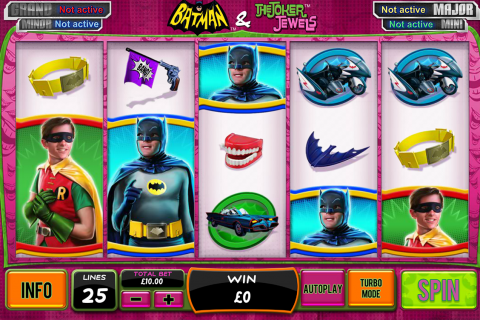batman the joker jewels playtech slot