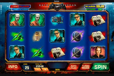 batman v superman dawn of justice playtech slot