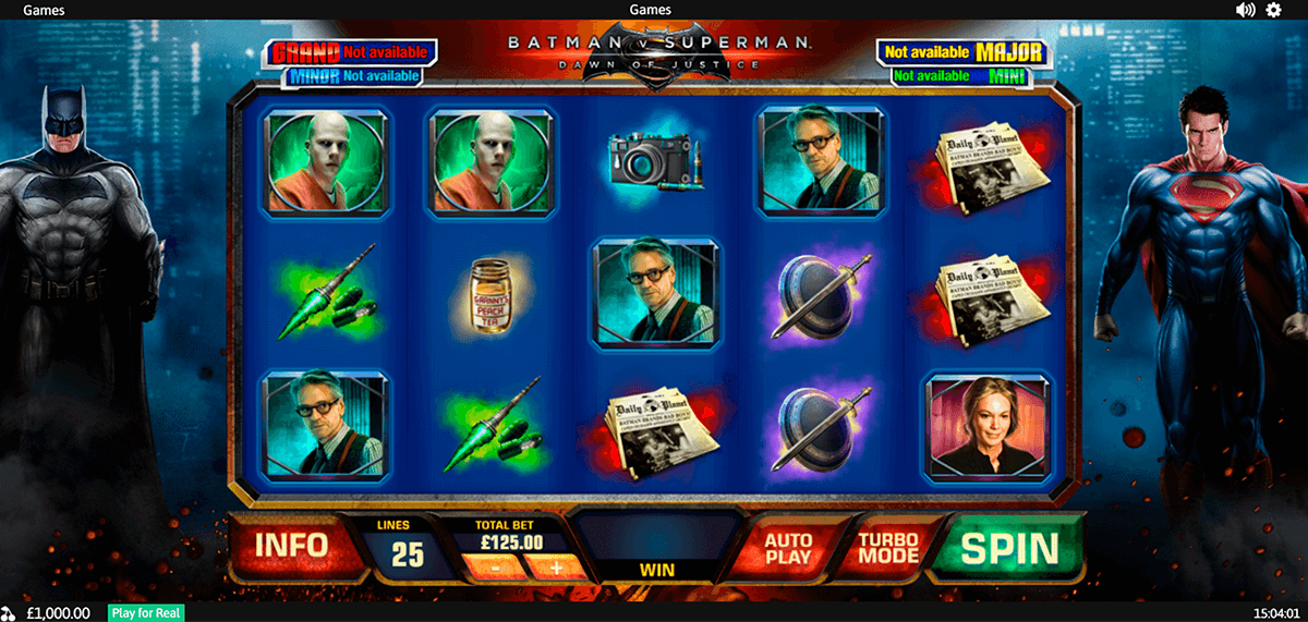 batman v superman dawn of justice playtech slot