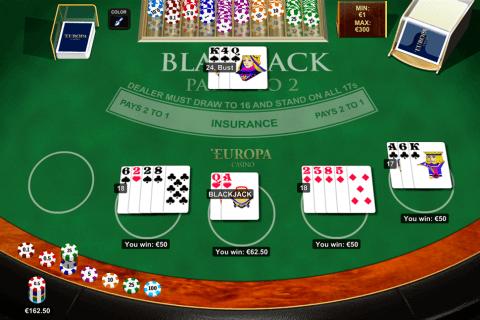 blackjack multihand  playtech online