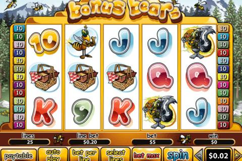 bonus bears playtech slot