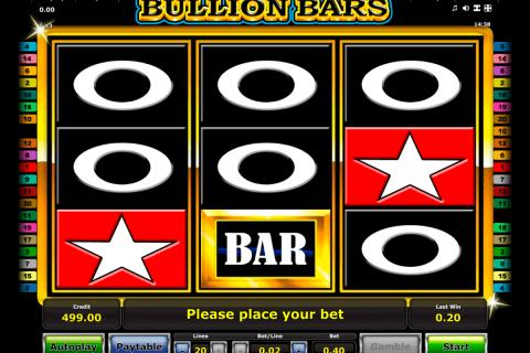 bullion bars novomatic slot