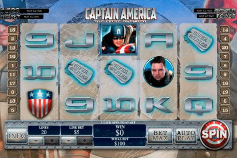 captain america playtech slot