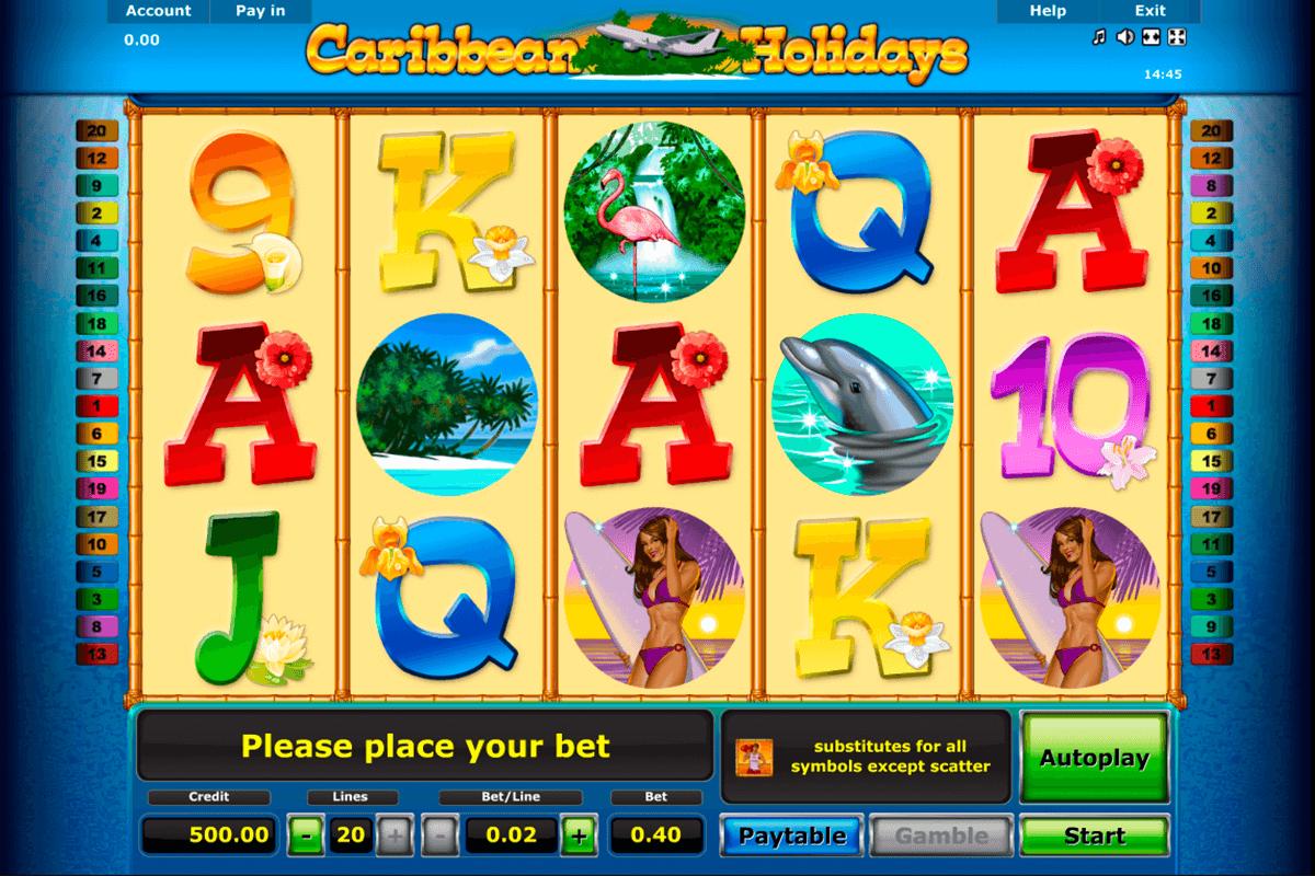 caribbean holidays novomatic slot