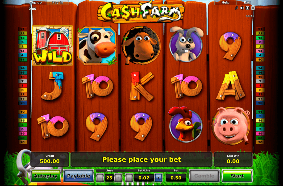 cash farm novomatic slot