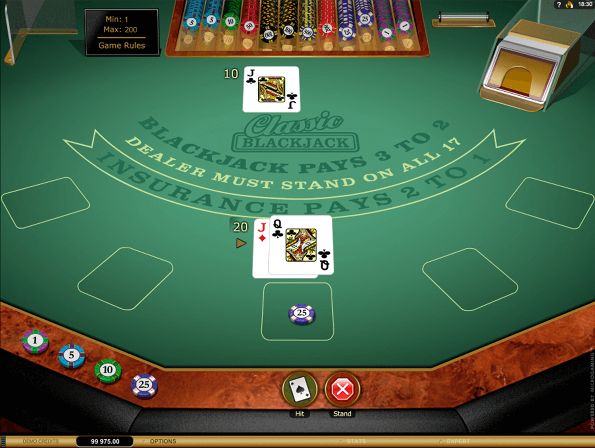 classic blackjack gold microgaming online