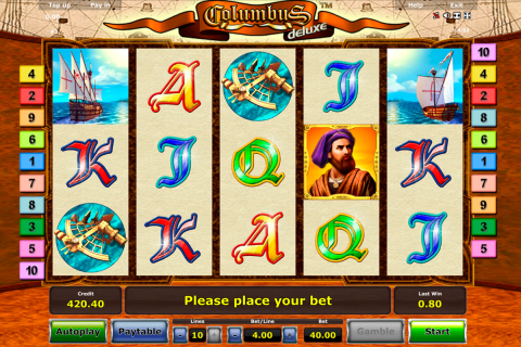 columbus delue novomatic slot