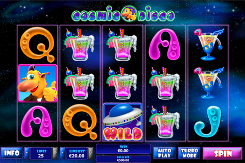 cosmic disco playtech slot