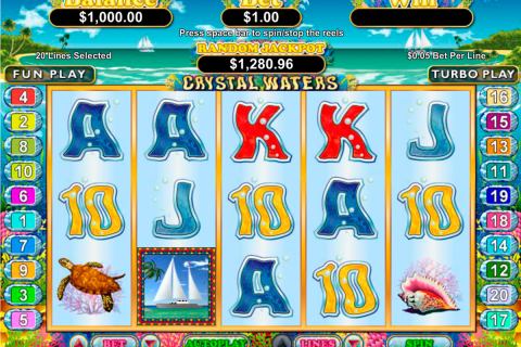 crystal waters rtg slot