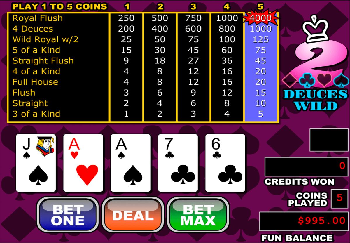 deuces wild video poker rtg