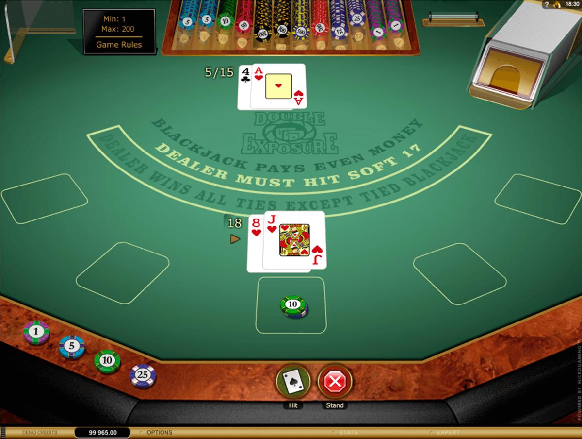 double eposure blackjack gold microgaming online