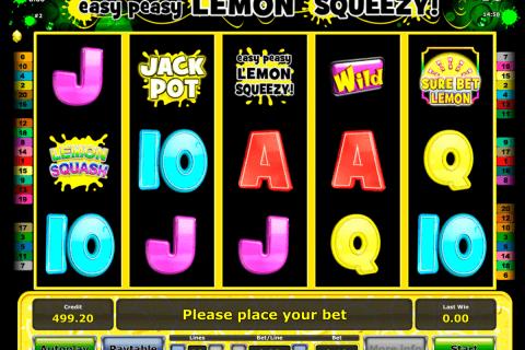 easy peasy lemon squeezy novomatic slot