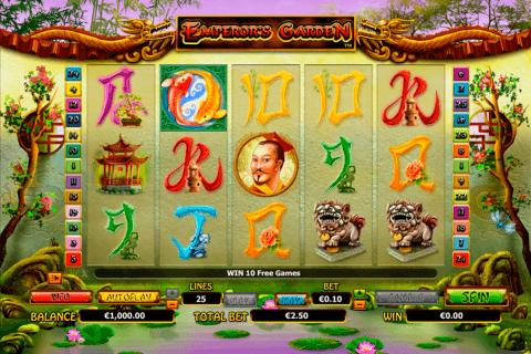 emperors garden netgen gaming slot