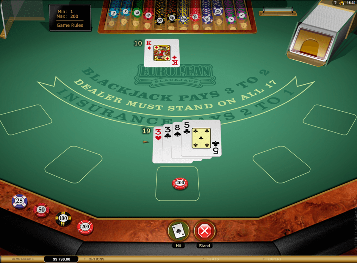 european blackjack gold microgaming online