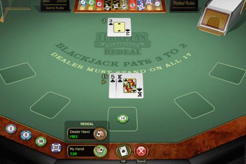 european blackjack redeal microgaming online