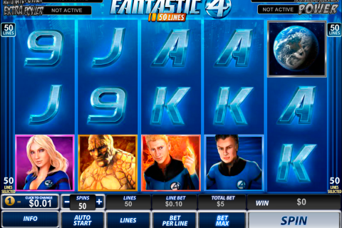 fantastic four  lines playtech slot