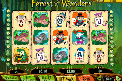 forest of wonder playtech slot