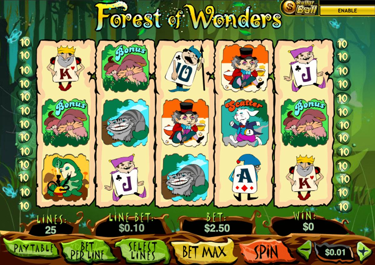 forest of wonder playtech slot