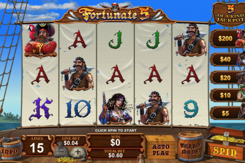 fortunate five playtech slot