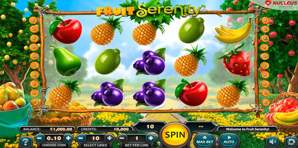 fruit serenity nucleus gaming slot