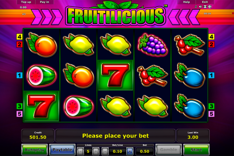 fruitilicious novomatic slot