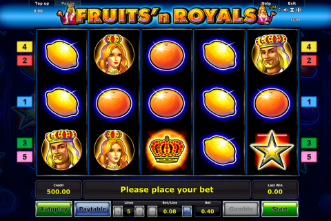 fruitsn royals novomatic slot