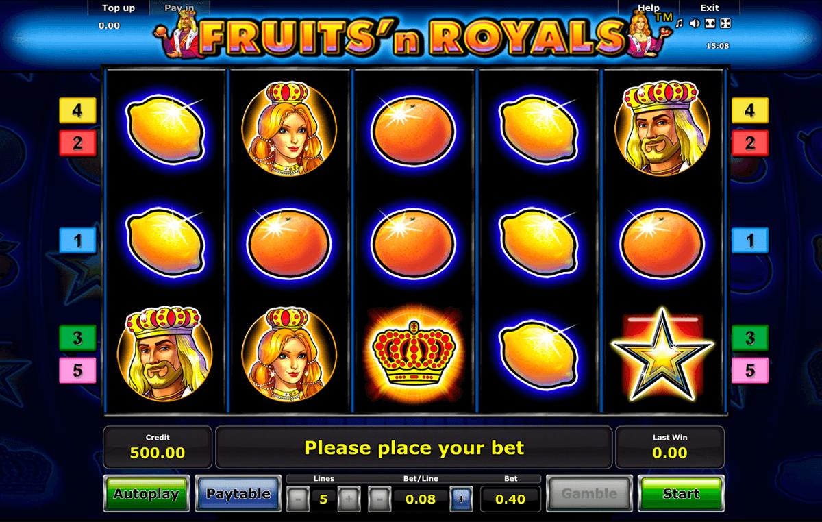 fruitsn royals novomatic slot
