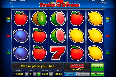 fruitsn sevens novomatic slot