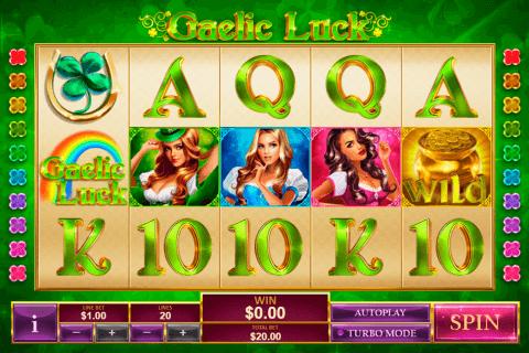 gaelic luck playtech slot