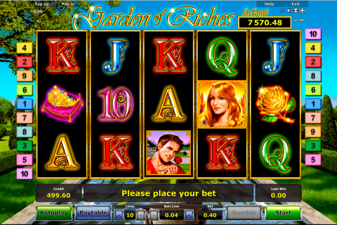 garden of riches novomatic slot