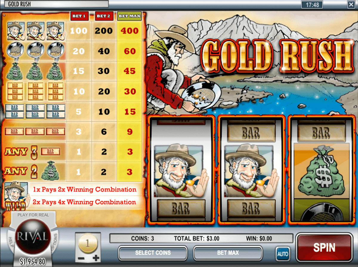 gold rush rival slot