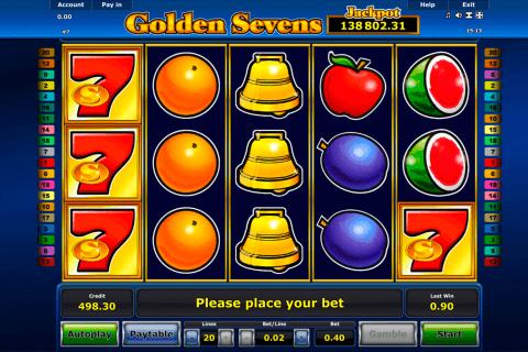 golden sevens novomatic slot