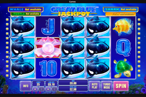 great blue jackpot playtech slot