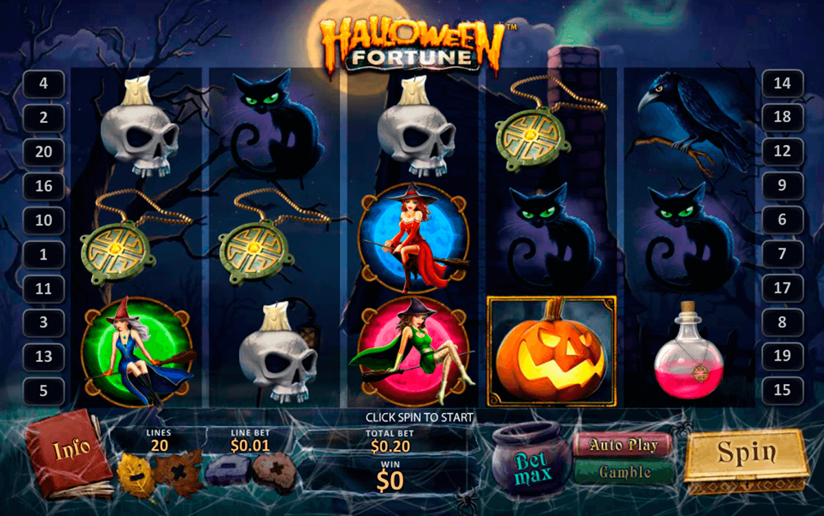 halloween fortune playtech slot