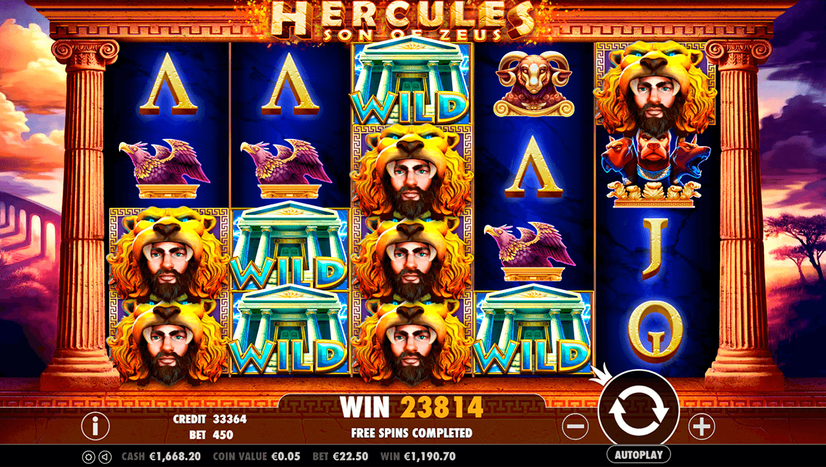 hercules son of zeus pragmatic slot