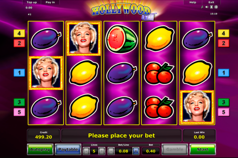 hollywood star novomatic slot