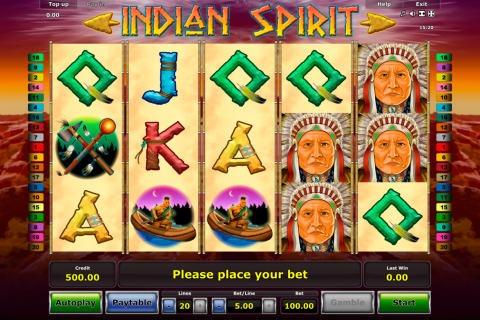 indian spirit novomatic slot