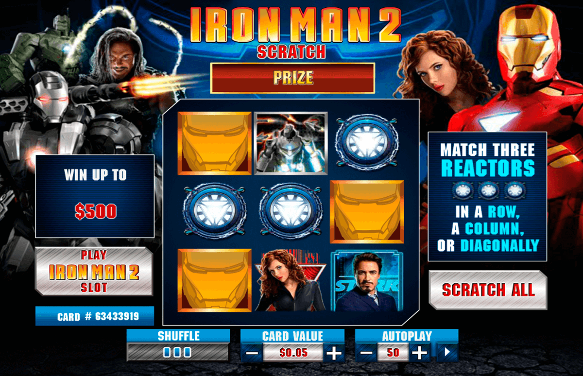 iron man  scratch playtech