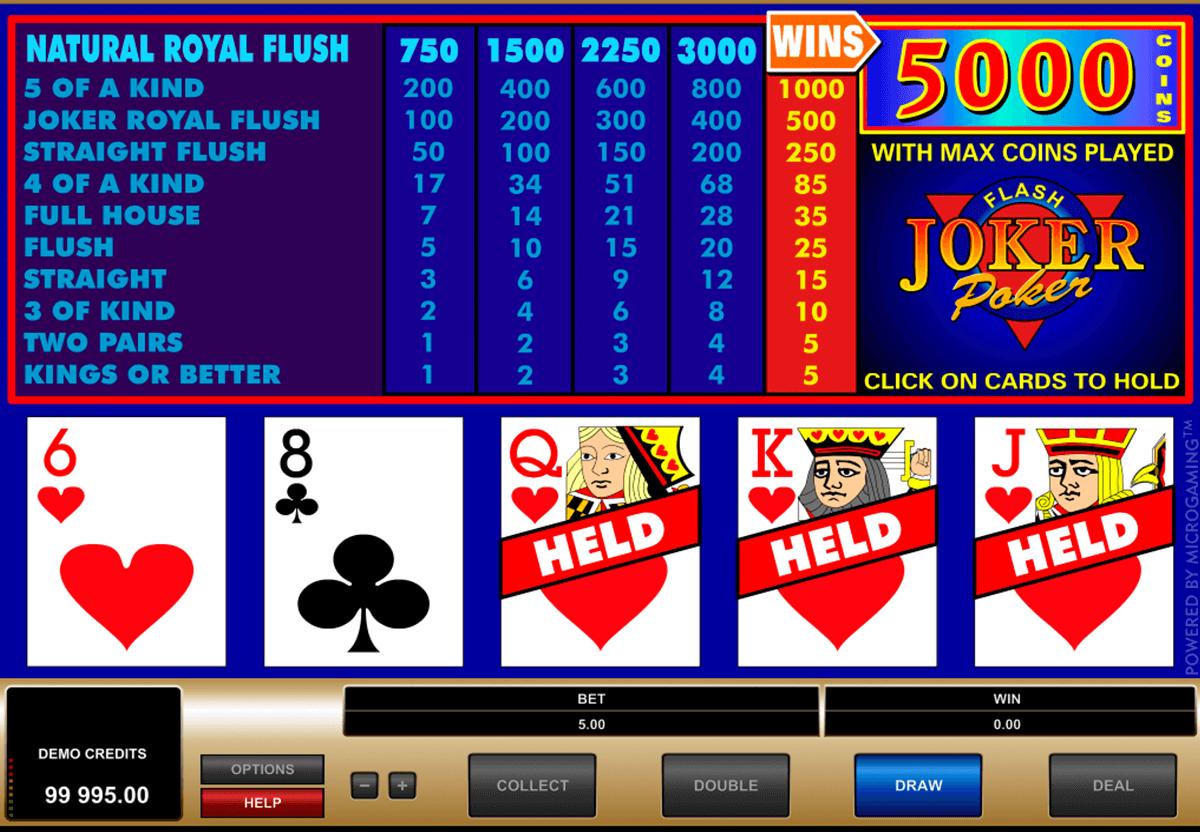 joker poker microgaming