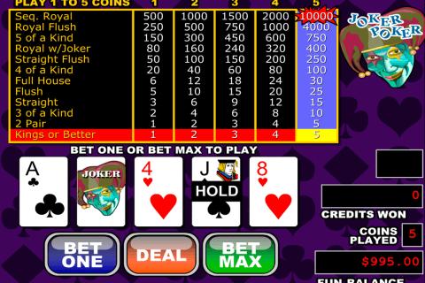 joker poker video poker rtg